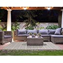 Brown Jordan Prime Label Patio Furniture Rug 8x10 Barnwell Collection Sisal Woven Modern Outdoor Rugs, Beige, Large