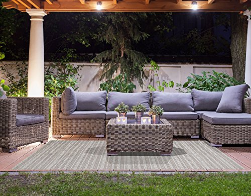 Brown Jordan Prime Label Patio Furniture Rug 8x10 Barnwell Collection Sisal Woven Modern Outdoor