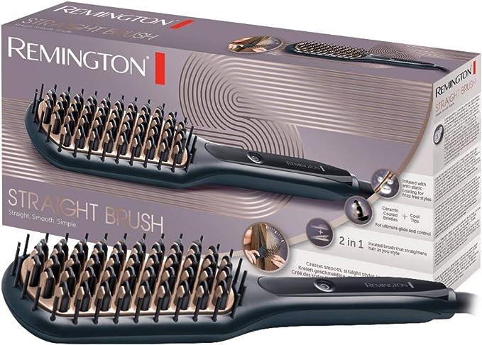 Remington CB7400 - Cepillo Alisador, Cerámica Avanzada Antiestática, 2 en 1 Cepilla y Alisa, 3 Ajustes, Negro: Amazon.es: Salud y cuidado personal