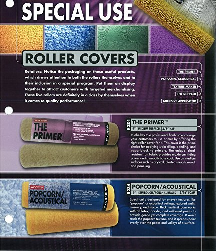 9-Inch 9//16-Inch Nap Wooster Brush R234-9 Popcorn Acoustical Roller Cover