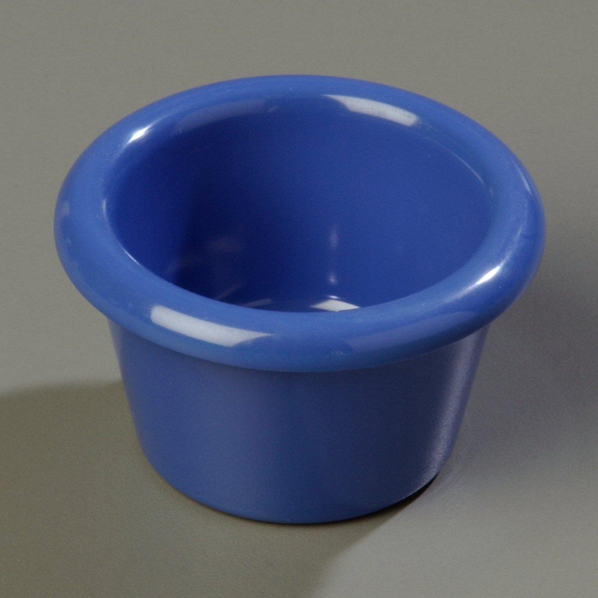 Case of 48 Carlisle S27514 Melamine Smooth Ramekin Capacity Ocean Blue 1.5 oz