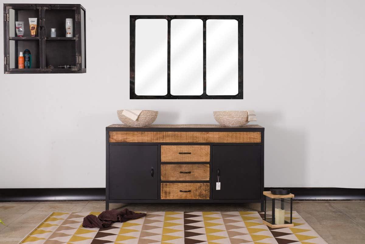 Meuble De Salle De Bain Industriel Double Vasque Atelier Meuble House Amazon Fr Cuisine Maison