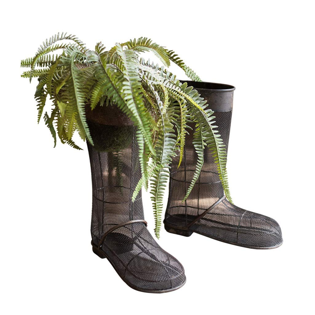 Accessories Garden Decoration Boots Decoration Vase Indoor Outdoor Crafts Cafe Flower (Color : Black, Size : 331236cm)