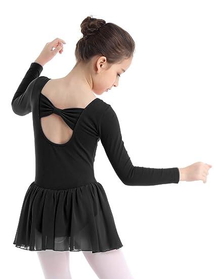 52531c270 CHICTRY Girls Kids Basics Long Sleeve Ballet Dance Dresses Gymnastics Tutu  Leotard Skirt (2-