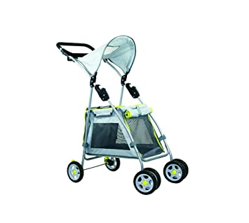 Outward Hound Walk N Roll Mascota Carrito Plegable Carrito de Paseo para Perros pequeños y Gatos, con Bloqueo de Frenos y Sombra Refugio: Amazon.es: ...