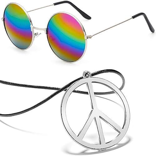 DARK LENS PEACE SIGN PRINT SUNGLASSES hippie glasses optical eye glasses fashion
