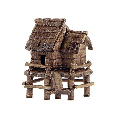 TUANMEIFADONGJI Bonsái Decoraciones Mini casa decoración Acuario paisajismo decoración casa Miniatura pecera de una Pulgada