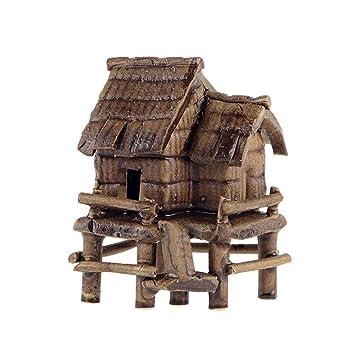TUANMEIFADONGJI Bonsái Decoraciones Mini casa decoración Acuario paisajismo decoración casa Miniatura pecera de una Pulgada: Amazon.es: Hogar