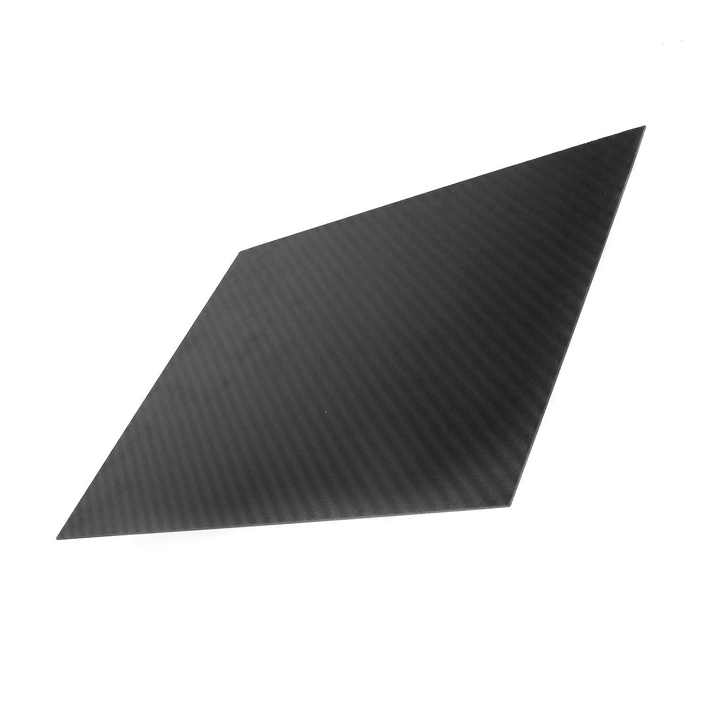 OTOTEC Panneau de Tissage Plaque de Fibre de Carbone 3/K Uni Drap 0,5 0.5mm 2/mm d/épaisseur