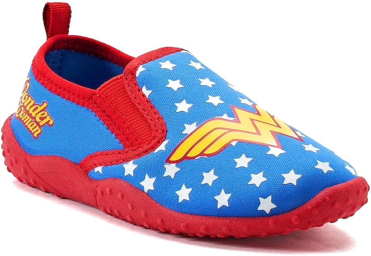 NEW Favorite Characters Wonderwoman Slip-On Water Shoes Toddlers//Little Kids