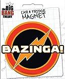 Ata-Boy Big Bang Theory Die-Cut Bazinga Magnet for Cars, Refrigerators and Lockers