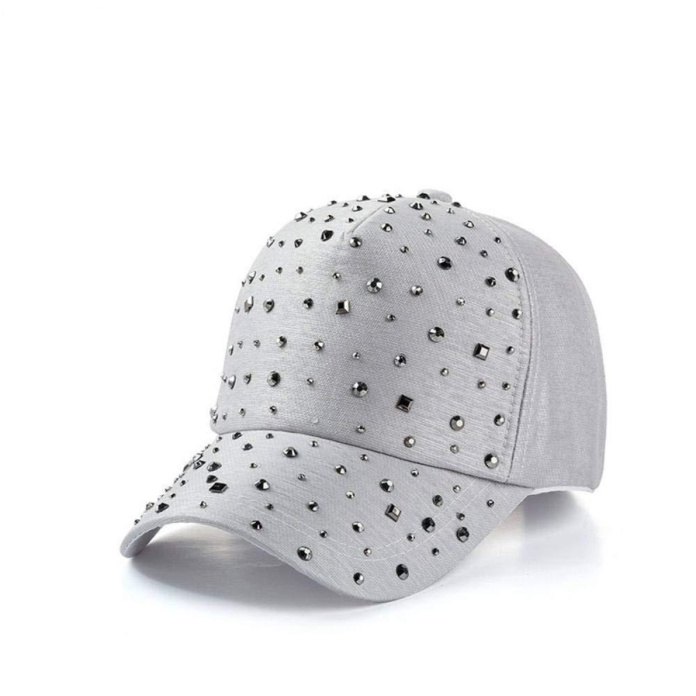 ZSOLOZ Baseball Caps New Korean Spring Summer Baseball Caps Fashion Snapback Hats Ladies Caps Bright Diamond Rhinestone Baseball Caps Adjustable Hats