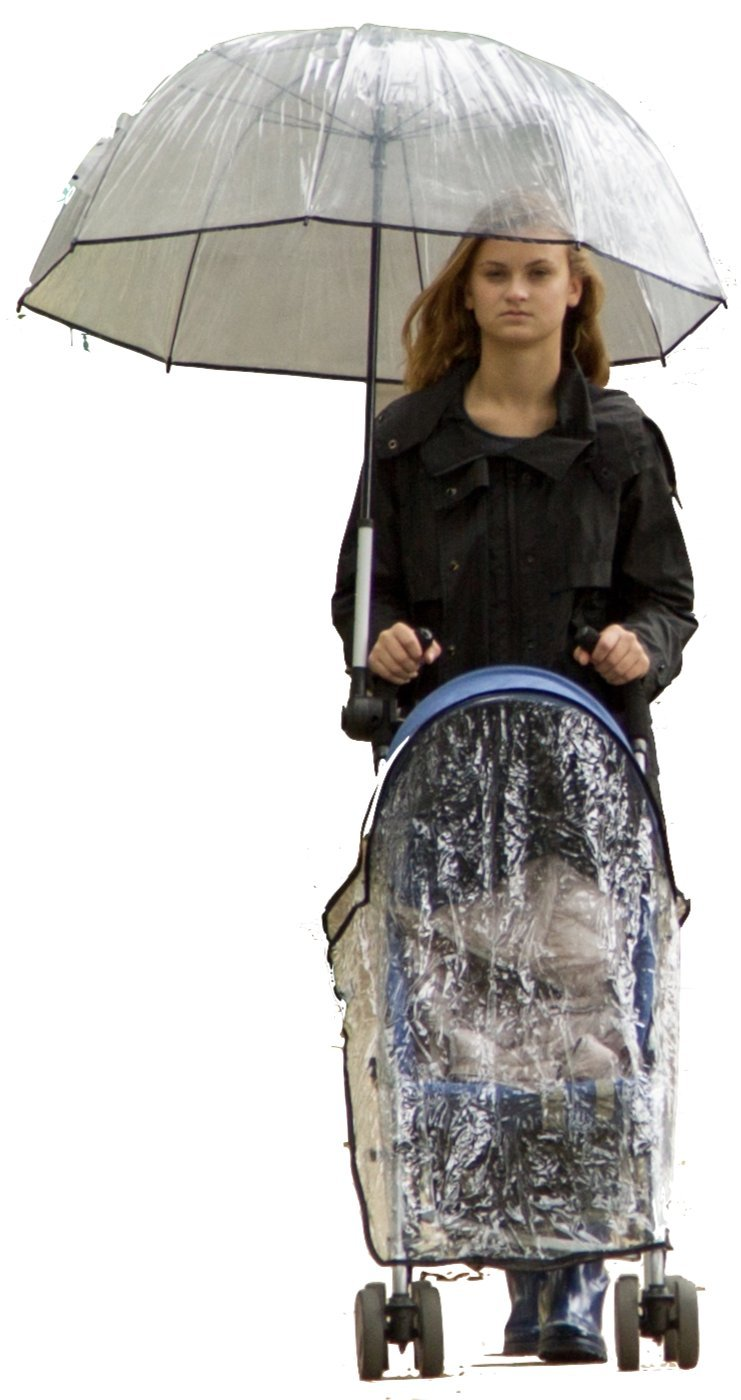 Bumbershoot, an Umbrella for the Stroller Chauffer