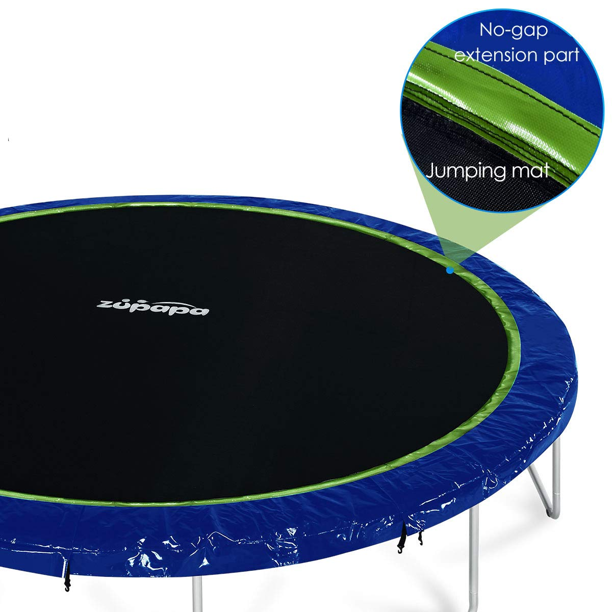 Zupapa 2019 Trampoline 15FT 14FT 12FT 10FT Newest No-Gap Jumping Mat Replacement (10FT)