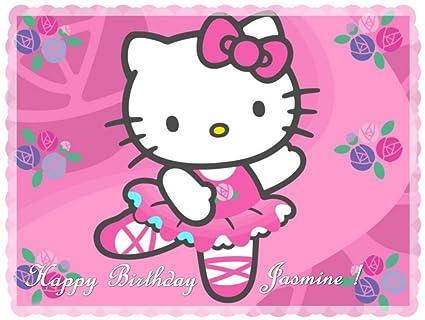Amazon Com Hello Kitty 2 Edible Cake Toppers Edible Image