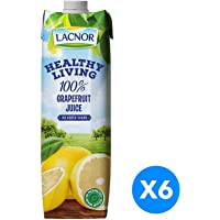 Lacnor Healthy Living Grape Fruit Juice - Pack of 6 Pieces (6 x 1 Liter)
