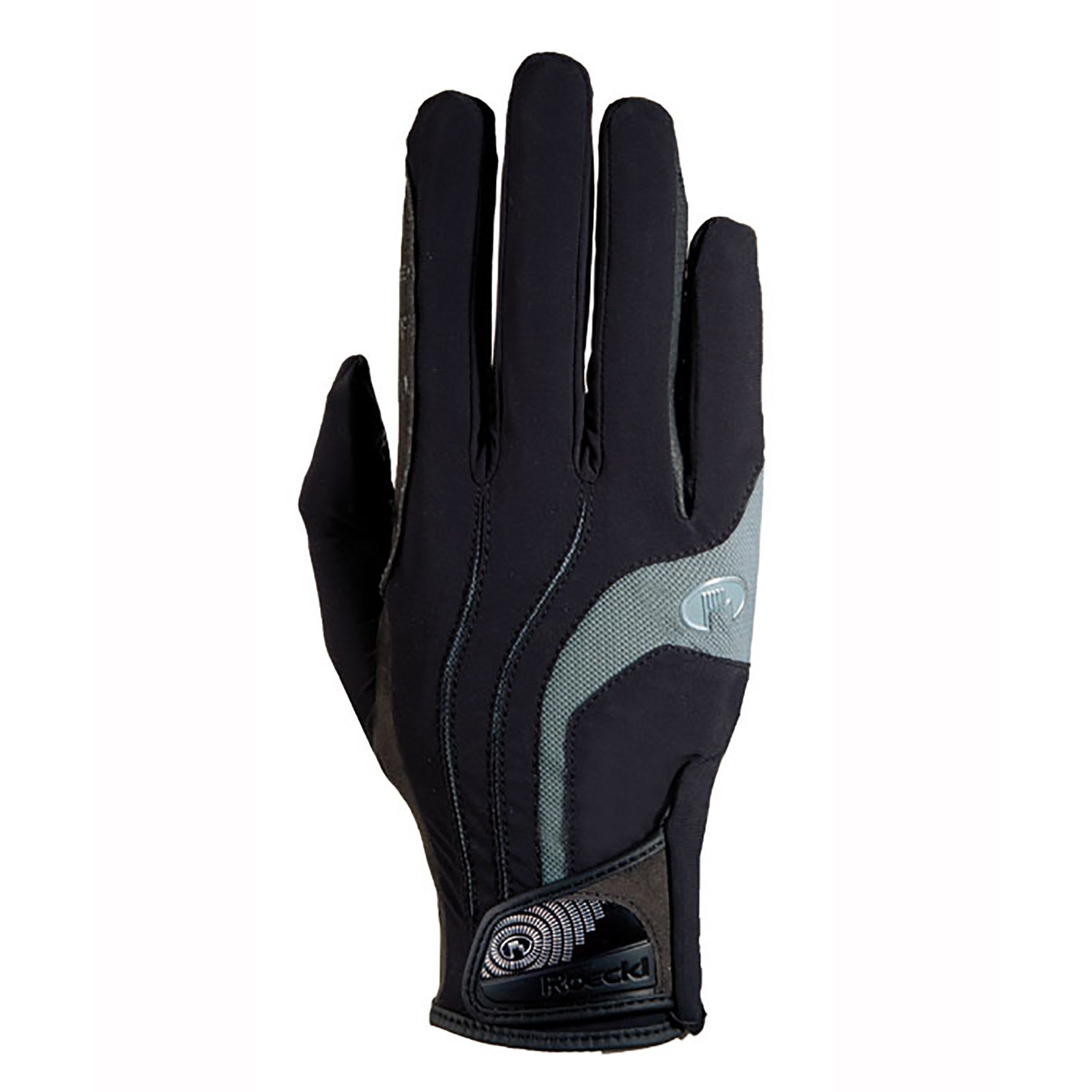 Roeckl Malia Riding Gloves Black/Grey 7