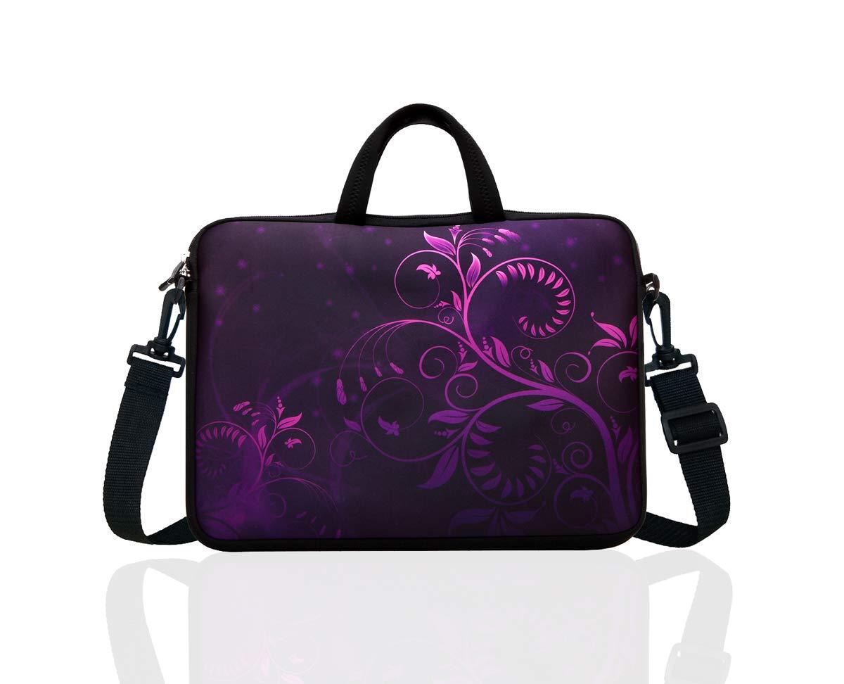 """10/"""" 9 Tablet Netbook Sleeve Bag Case Pouch Shoulder Strap iPad Kindle Leopard"""