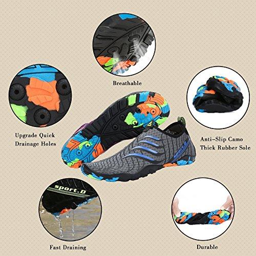 Surfer D'eau Yoga Plage Femme Shoes Aquatiques De Chaussures Homme Gris Piscine Pour Katliu Water Bleu qEIzvww