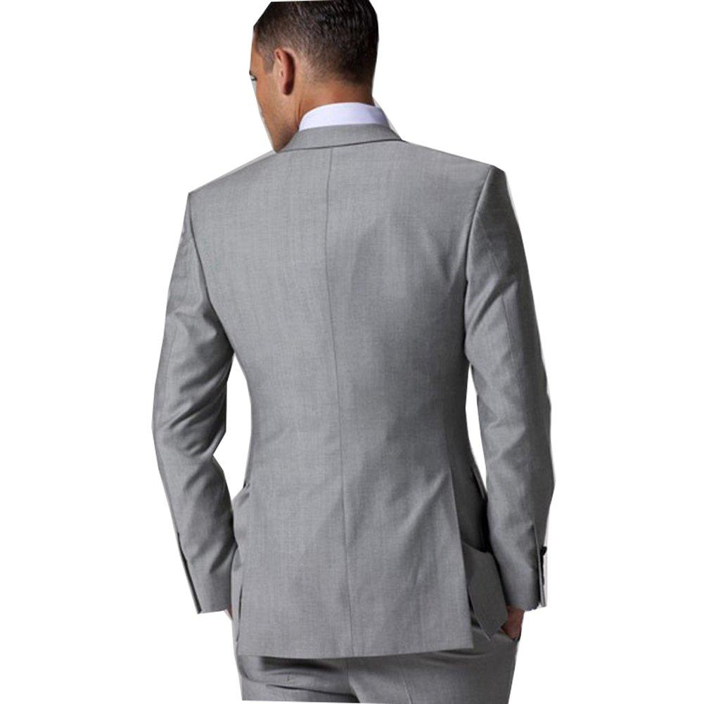 Amazon.com: Rey & Aires hombre clásico juego de traje gris ...