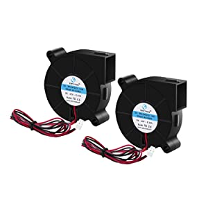2pcs 5015 Dual Ball Bearing Cooling Blower Fan DC 12V 0.10A~0.15A with 2 Pin Connector 50mmx15mm Fans