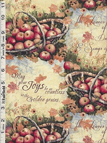 Susan Winget Harvest Basket Full of Apples by Springs Creative bty SALE -