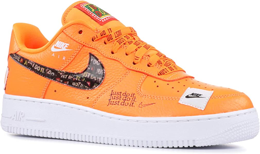 half off a8735 9a3d9 Nike Air Force 1  07 PRM JDI, Sneakers Basses Homme, Multicolore Total  Orange