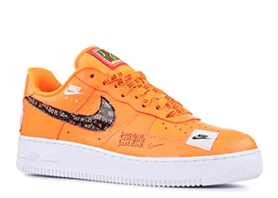best loved e639d 01431 Nike Men s Air Force 1  07 Premium JDI in Orange Leather Sneakers 42,5