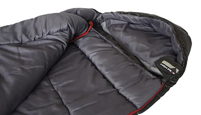 High Peak Redwood 4 Saco de Dormir, Unisex, Gris Oscuro, 220 x 80/50 cm: Amazon.es: Deportes y aire libre