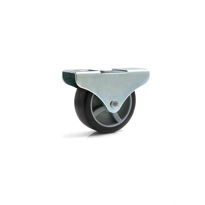 4x Kastenbockrolle Bettkastenrolle Möbelrolle 50x19 mm mit weicher Lauffläche