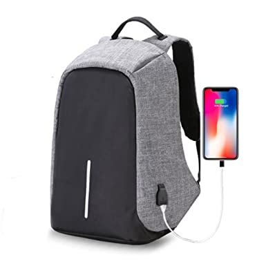 a09e384cc12 Image Unavailable. Image not available for. Color: AicLuze Travel Backpack,  Anti-theft Laptop Backpack with USB Charging Port, Large Capacity
