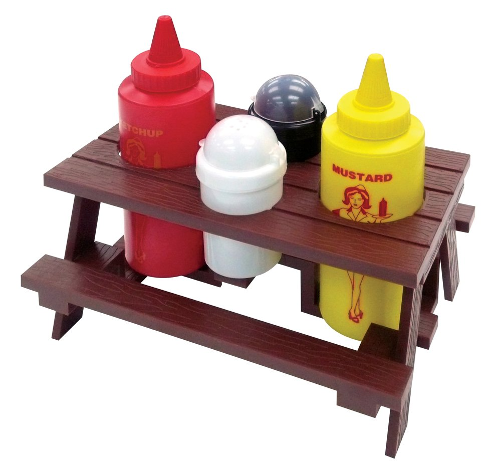 Mr. Bar-B-Q, Inc. 40197X Picnic Table Condiment Set by Mr. Bar-B-Q