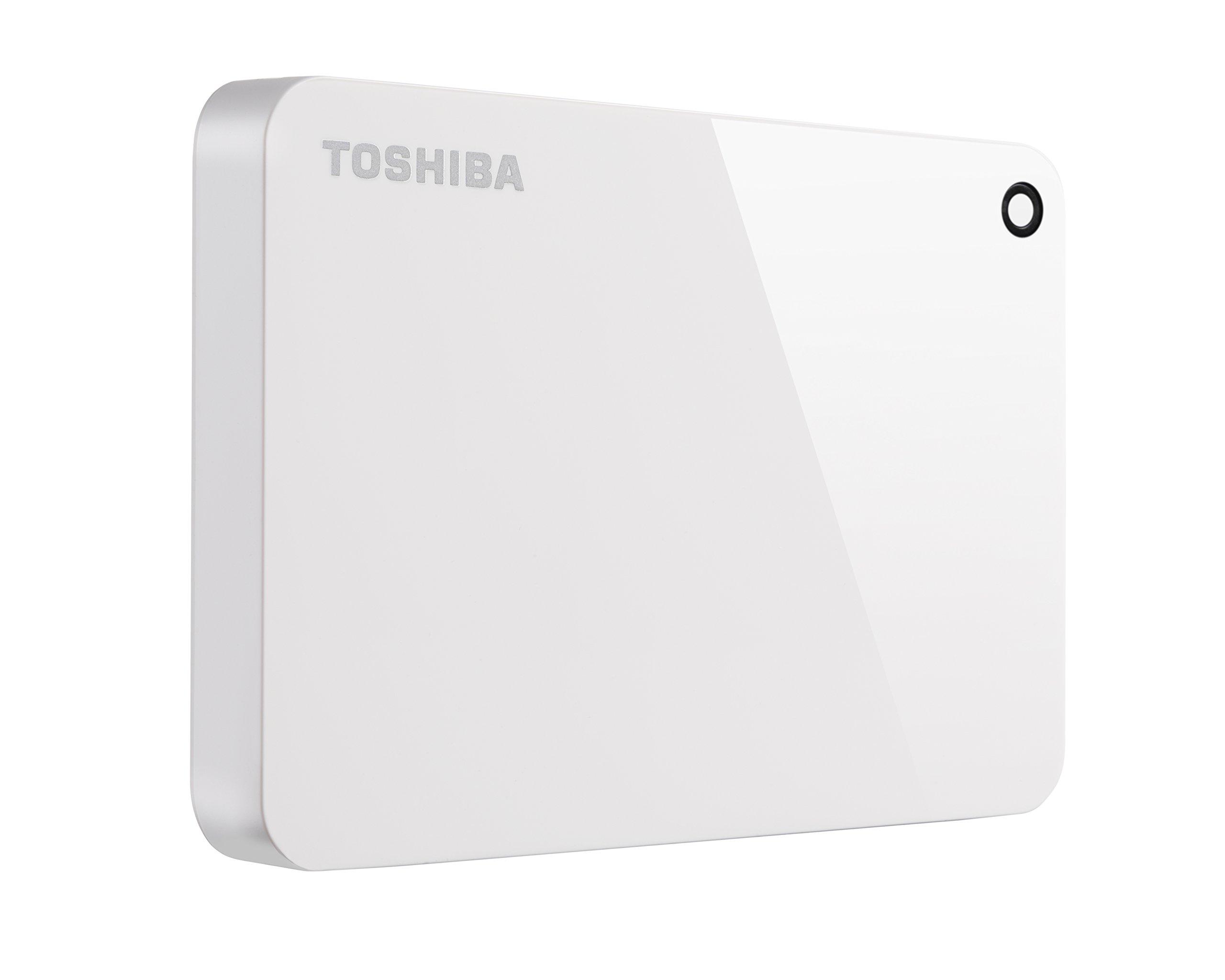 Toshiba Canvio Advance 2TB Portable External Hard Drive USB 3.0, White (HDTC920XW3AA)