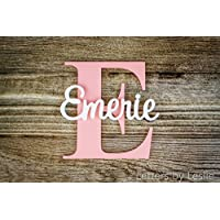 Nursery Name Sign Capital Letter Baby Name Plaque Personalized Nursery Baby Name  Wall Hanging Nursery Wooden