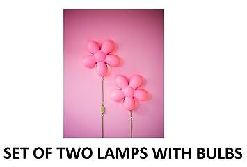 Ikea Light Pink Flower Wall Lamp Bundle   Includes Two Smila Blomma Wall  Lamps (13u0026quot
