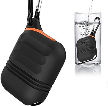Moretek Impermeable Funda Compatible with Airpods,Carcasa para AirPods con Estuche de Carga, Waterproof [a Prueba de Agua] [ultrarresistente] (Black 2): Amazon.es: Electrónica