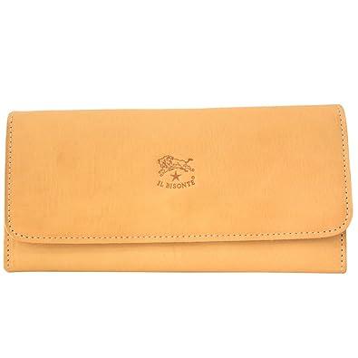 c235219a64a3 [イルビゾンテ] IL BISONTE イルビゾンテ 財布 三つ折り 長財布 フラップ ウォレット かぶせ蓋 レザー 本