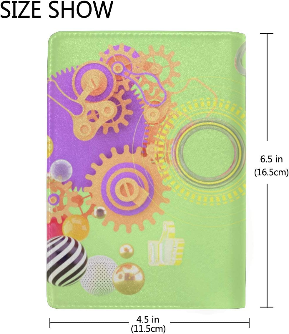 Passport Cover For Kids Comfortable And Colorful Green Ball Stylish Pu Leather Travel Accessories U.s Passport Cover For Women Men