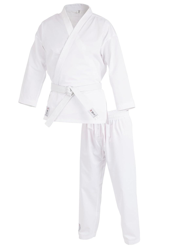 Costume d'arts martiaux Ultrasport, y compris une ceinture blanche, convient aussi bien aux enfants, aux jeunes, aux adultes / Costume pour les arts martiaux asiatiques, pour les karatekas dé butants et confirmé s 100 1039