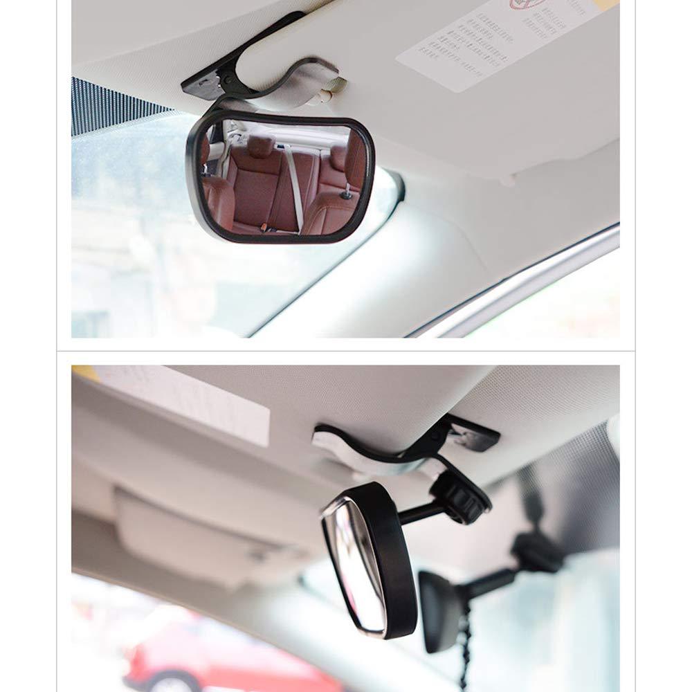 Ventosa En El Parabrisas//Clip En El Coche Visera De Sol 360 /° Seguridad Espejo Retrovisor Beb/é Espejo De Observaci/ón Del Ni/ño M/ás Segura Inastillable Espejo De Coche De Beb/é
