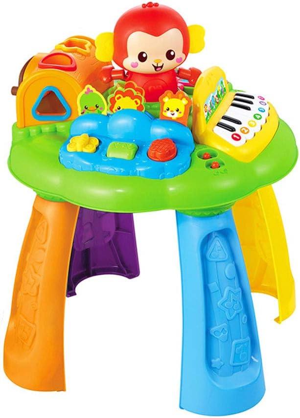 Cajas de música Juego de juguetes para niños Mesa de juego Mono Mesa de aprendizaje Infantil Música Juguetes de iluminación Educativos para niños Juguetes de educación temprana 1-3 años de edad Juguet: