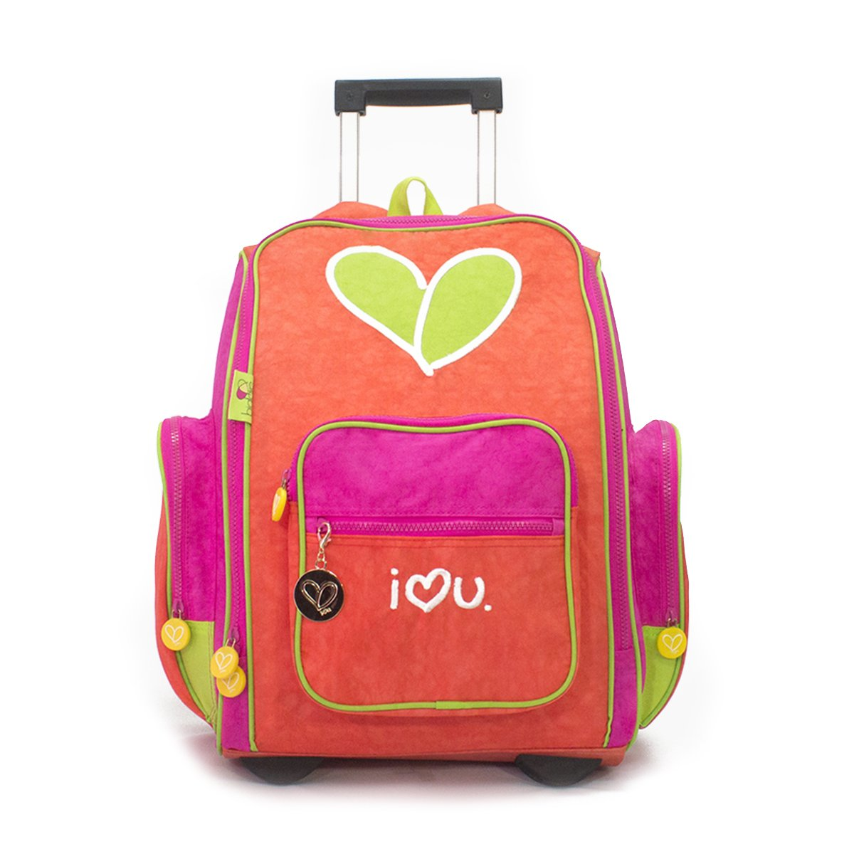 Biglove Backpack with Trolley Bag, Love