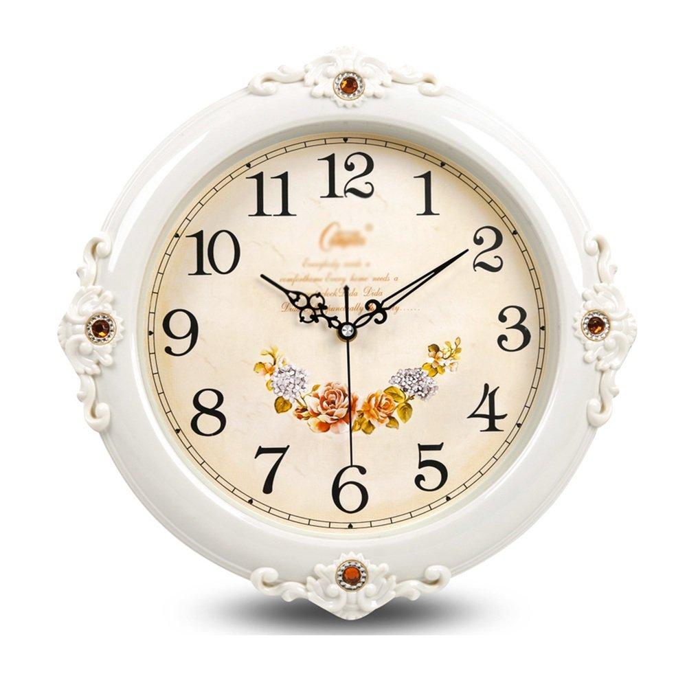 HFF Stille Wanduhr europäische hängende Uhr geeignet für