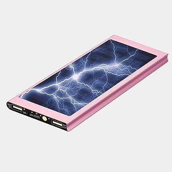 Losenlli Ultra Thin 20000mAh Gran Capacidad Teléfono móvil Cargador de batería Panel Solar Fuente de alimentación del Banco de alimentación Externa ...