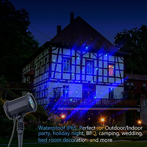 Poeland Star Laser Projector Light with LED Blue Nebula Starlight Suitable for Bedroom Decoration, Family Party, KTV, Dance Halls, Clubs, Bars, Kids Party, Dance Floor by Poeland (Image #3)