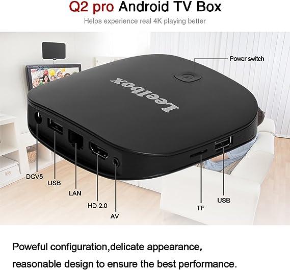 Leelbox Q2 Pro Android 6.0 TV Box de 2GB RAM+16GB ROM con BT 4.0 ...