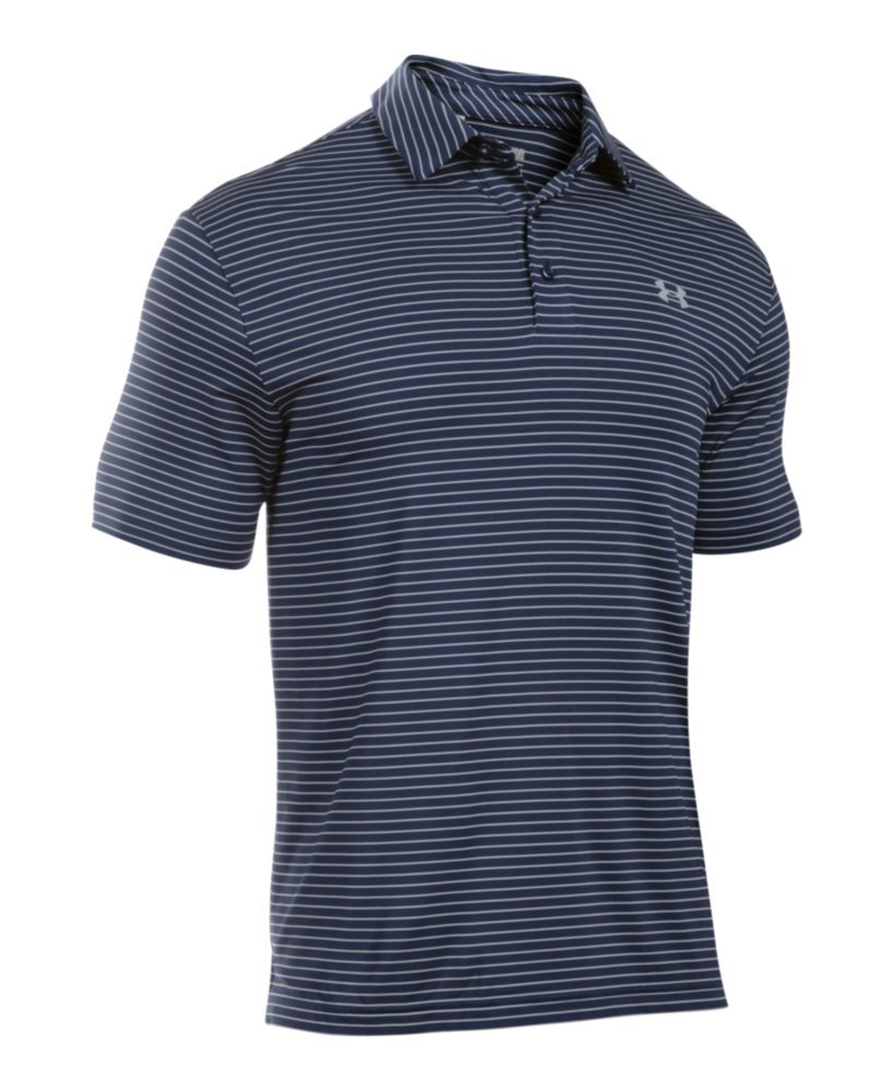 Under Armour Men's Playoff Polo, Academy (410)/Steel, Small by Under Armour (Image #4)