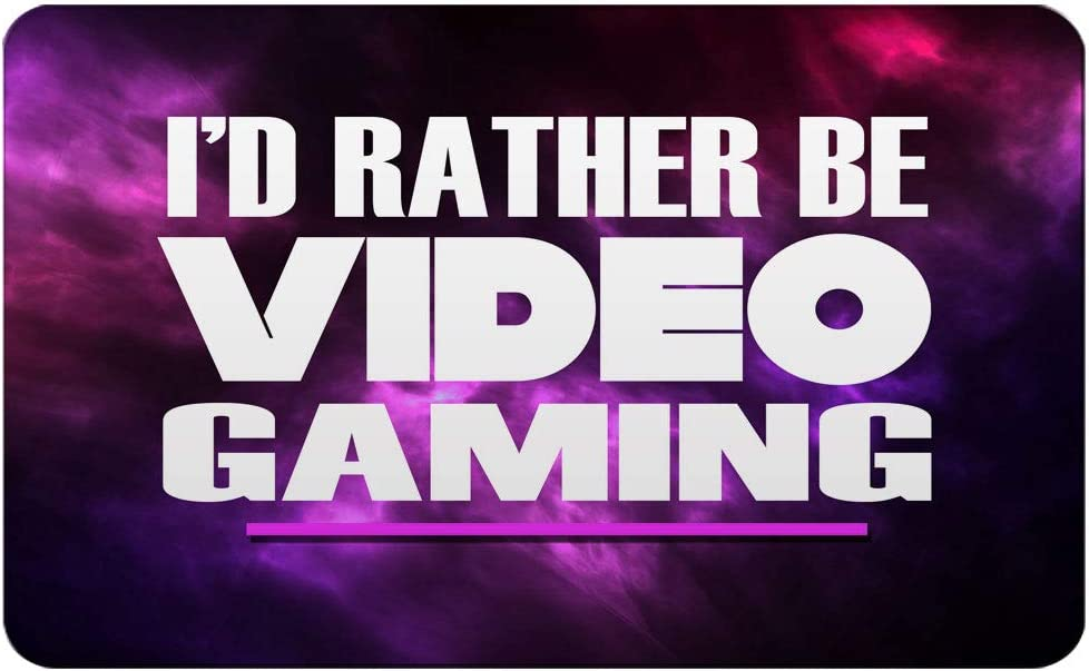 "Makoroni - I'D RATHER BE VIDEO GAMING Rectangle Magnet, 2""x3"" Refrigerator Magnet"