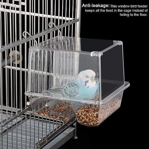auspilybiber Alimentador de jaulas de pájaros Alimentador de ...