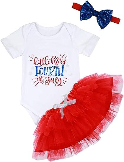 USA Newborn Kids Baby Girls Outfits Clothes Tops Romper Bodysuit+Tutu Dress Sets